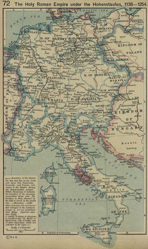 Thirteenth-Century map of Europe