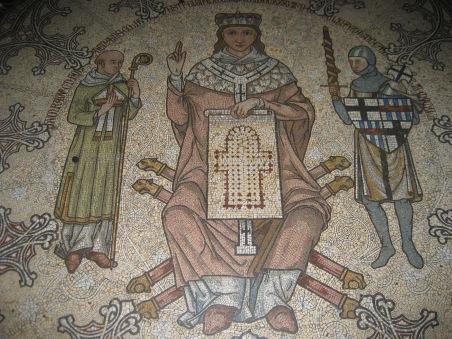 Mosaic Konrad von Hochstaden Cologne Cathedral