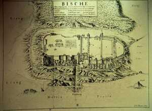 This vintage topographical map show the layout of Bitsch,