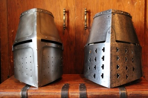 Plain great helms