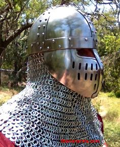 Plain, riveted spangenhelm with face plates