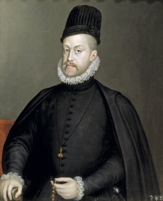 Portrait Phillip II of Spain Hapsburg