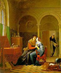 abelard and heloise surprised by master fulbert jean vignaud 1819